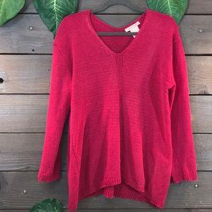 Philosophy Fuchsia Soft Sweater Size M